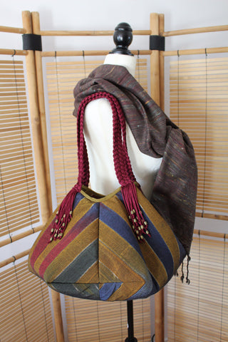 Sofia Handcrafted Moiré Shoulder Bag