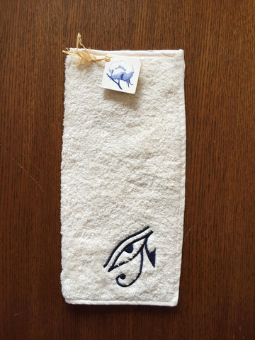 Egyptian Cotton Hand Towel - Eye of Horus