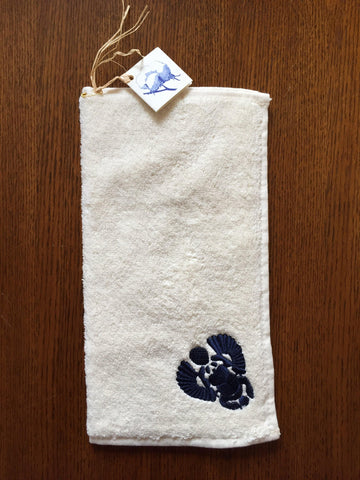 Egyptian Cotton Hand Towel - Scarab