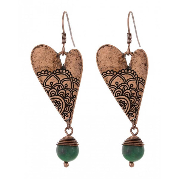 Filigree Heart Earrings - Gifts A GoGo