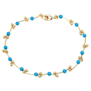 Gold Barbell Chain Anklet - Gifts A GoGo