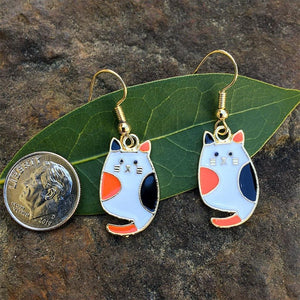 Calico Cat Earrings - Gifts A GoGo