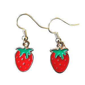 Strawberry Earrings - Gifts A GoGo