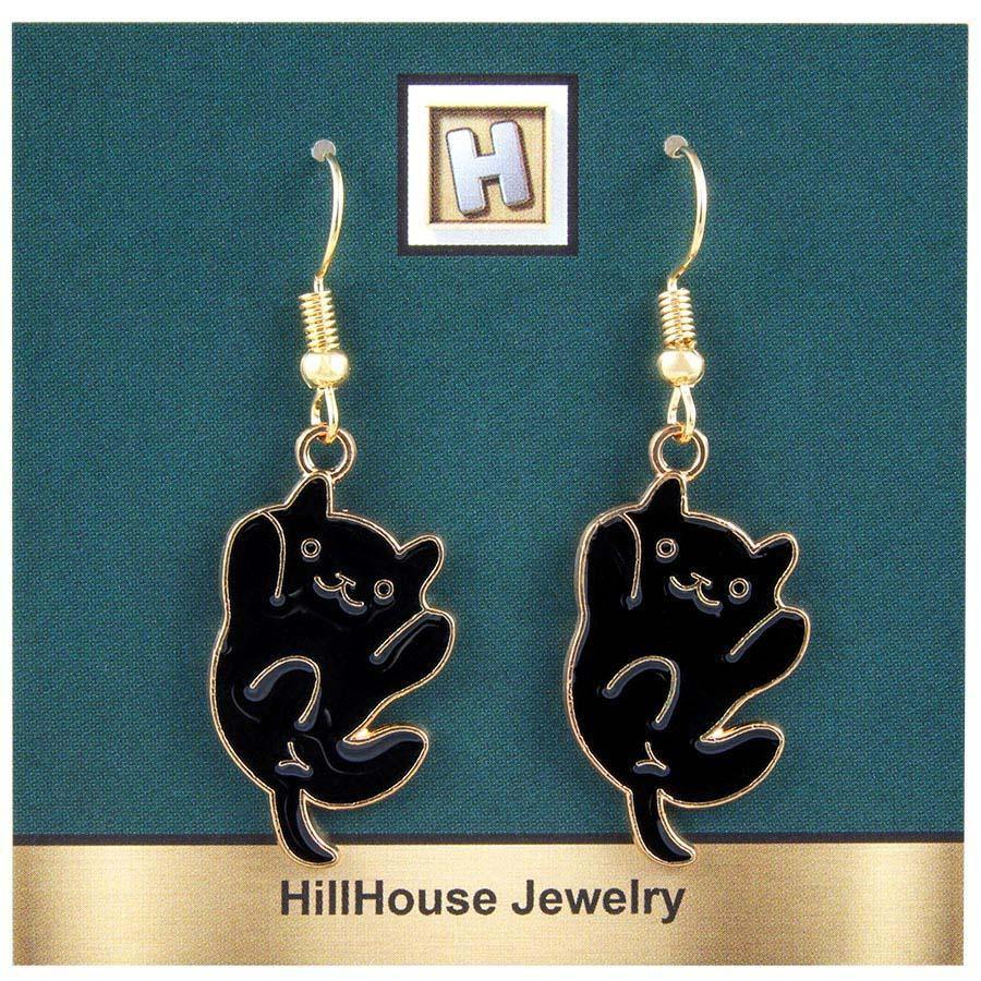 Black Cat Earrings - Gifts A GoGo