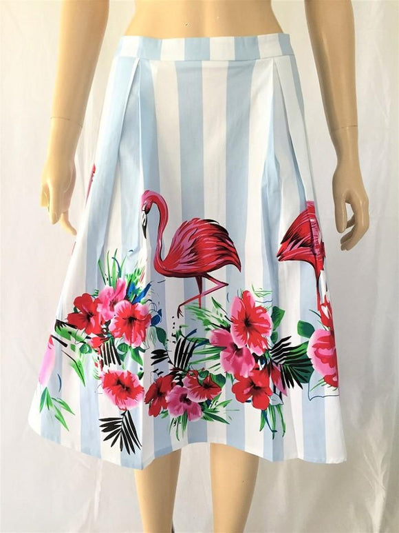 Timeless 14011F Stripe Flamingo Shelley Skirt