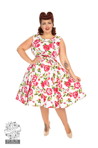 Hearts & Roses 5694 Sweet Rose Swing Dress +Size
