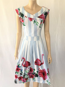 Timeless 11709C28 Stripe Flamingo Dress