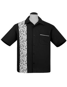 Steady ST35614 Music Notes Button Shirt