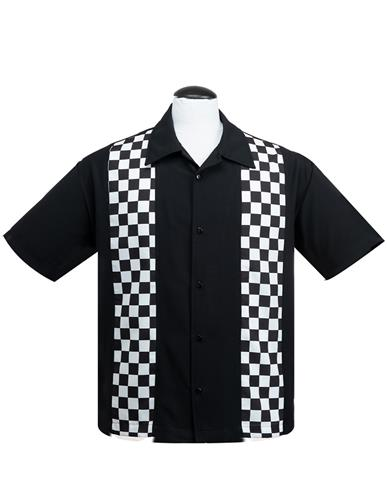 Steady ST35330 Checkered Panel Men's Button Shirt