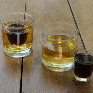 Lowball Glass Set - 2 Shot Glasses - Personalized
