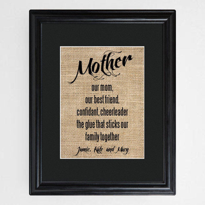 Personalized Mother's Framed Print