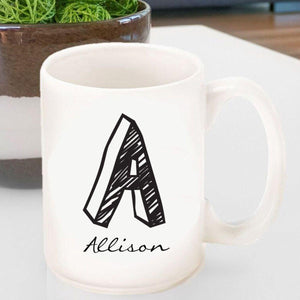 Personalized Coffee Mug - Monogrammed - Ceramic