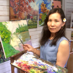 Grace Gonso in her studio