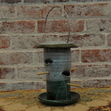 4 perch ceramic bird feeder by Art Baird