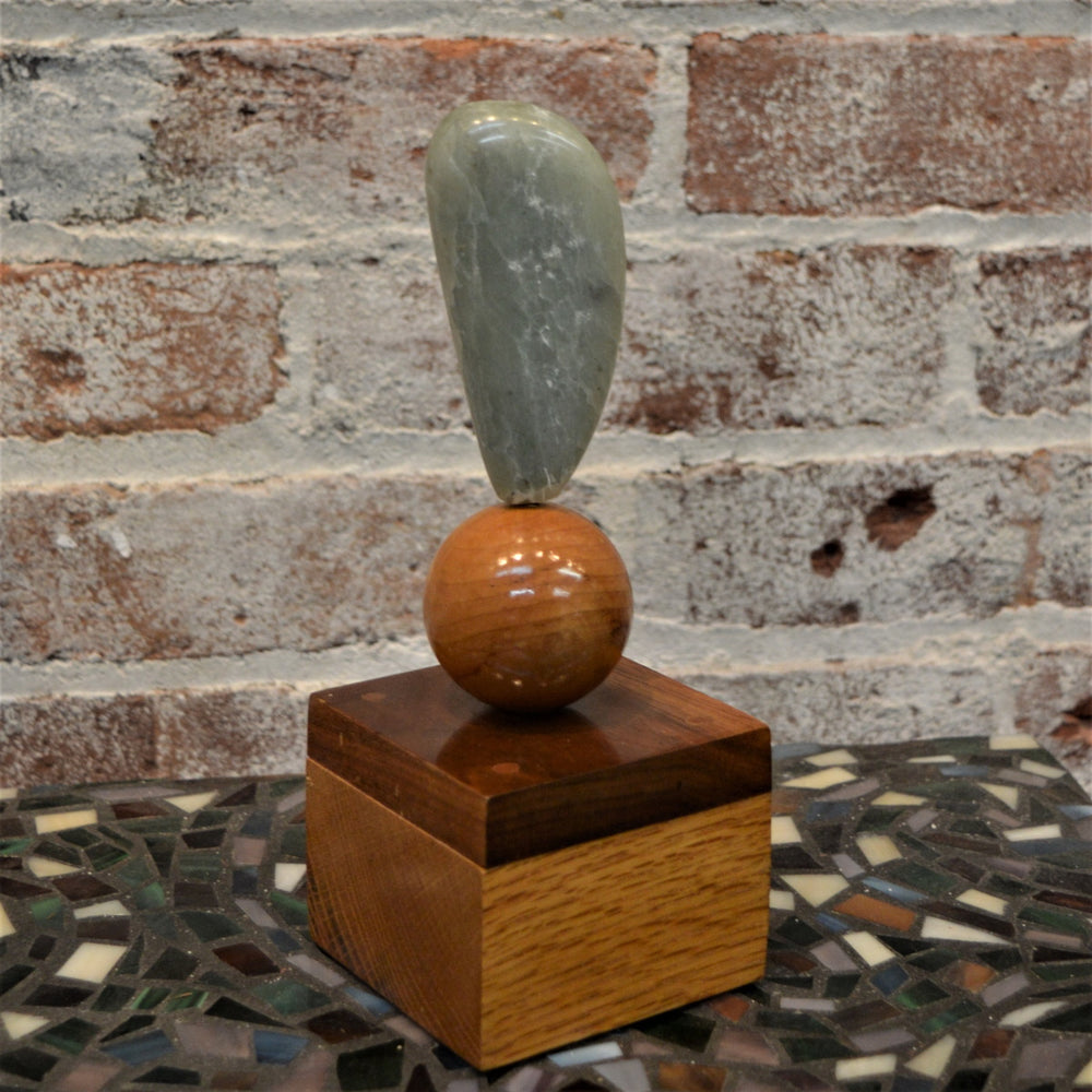 Stone Sculpture on Wooden Base by David Shipley