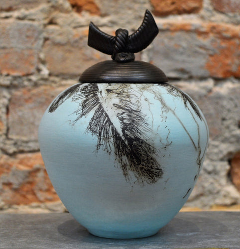 Feathers & Horsehair Lidded Vessel by Christine Davis