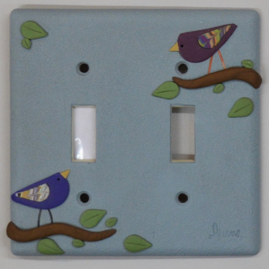 Polymer clay switchplate by Irene Semanchuk