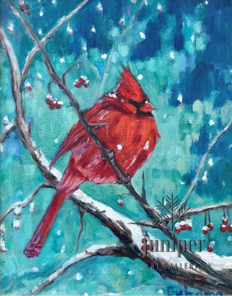 Winter Cardinal by Grace (Butedma) Gonso