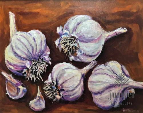 Purple Italian (Garlic), oil painting on canvas by Grace (Butedma) Gonso