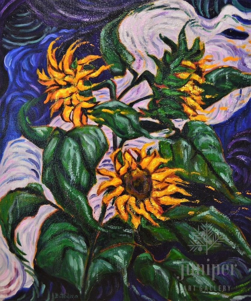 Sunflowers in Storm by Grace (Butedma) Gonso