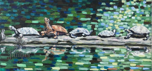 Turtles Sunning by Grace (Butedma) Gonso