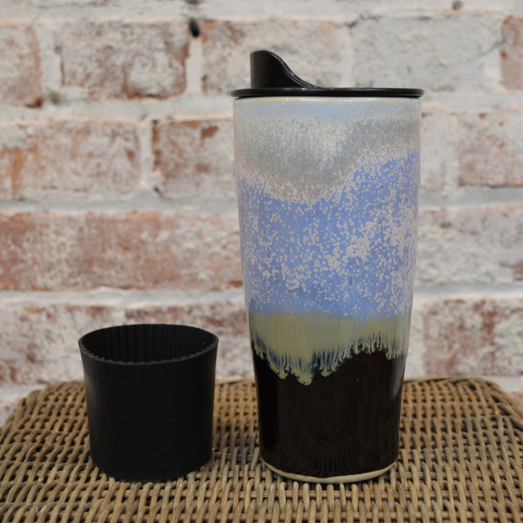 Ceramic Travel Mug (Serenity Glaze) by Hannah Martin