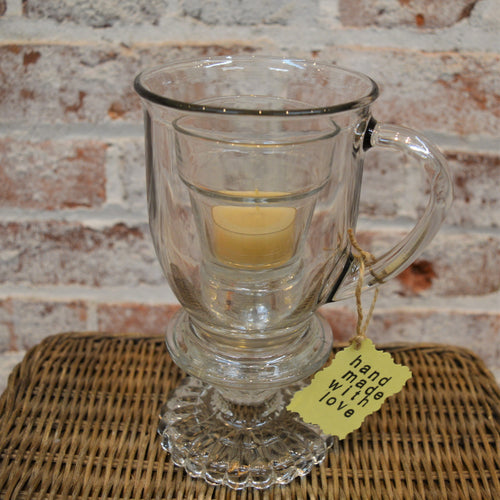 Glass Cup Candle Holder by Jenny Stankiewicz