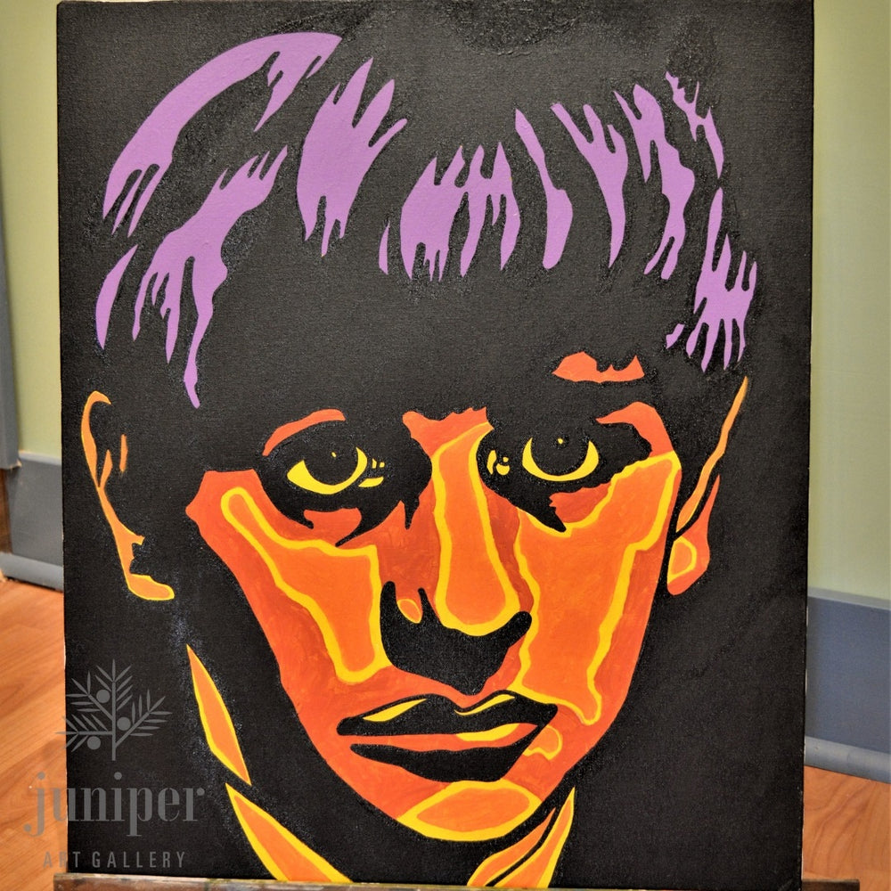 SOLD!  Ringo Starr, acrylic painting by Joel Washington
