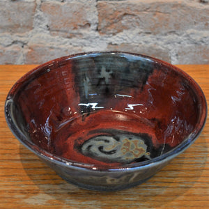 Ceramic pasta bowl by Kris Busch
