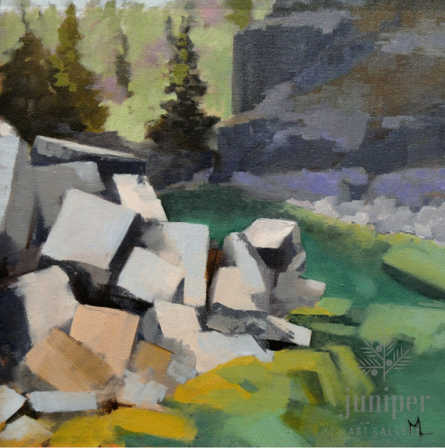 SOLD! Quarry Stone Study, oil painting by Meg Lagodzki