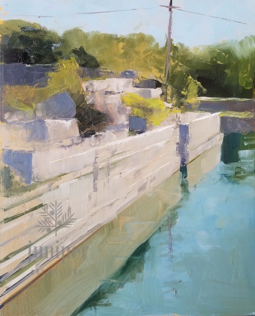 Quarry Study, Ledge by Meg Lagodzki