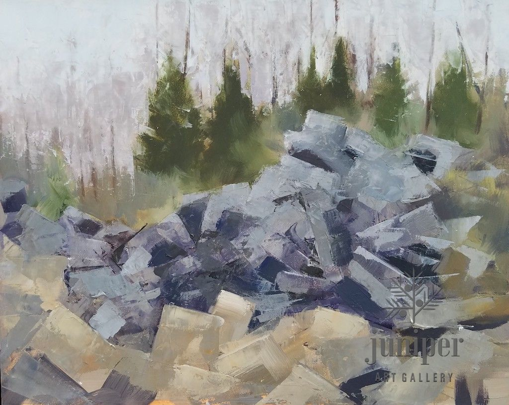 Rainy Quarry Study by Meg Lagodzki
