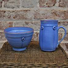 Button Mug & Cereal Bowl (set) by Rebecca Lowery (Sky)