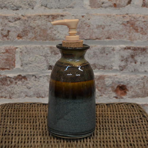 Handmade soap dispenser by Barb Lund