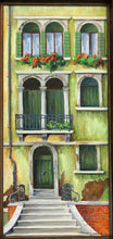 Green Door, reproduction from original oil by Margaret L. Sweany