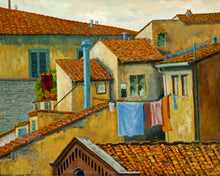 Florence Rooftops, reproduction from original oil by Margaret L. Sweany