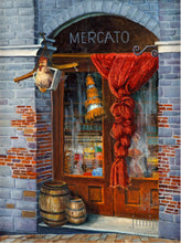 Mercato, reproduction from original oil by Margaret L. Sweany