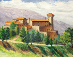 Relais il Canalicchio, reproduction from original oil by Margaret L. Sweany