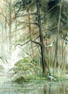 Peaceful Cove (reproduction from original watercolor by Paul J Sweany)