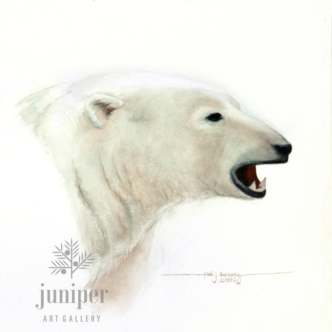 Polar Bear Study (reproduction from original watercolor by Paul J Sweany)