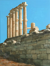 Temple of Poseidon, reproduction from original watercolor by Paul J Sweany