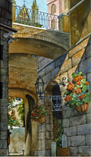 Orvieto Passageway, reproduction from original watercolor by Paul J Sweany