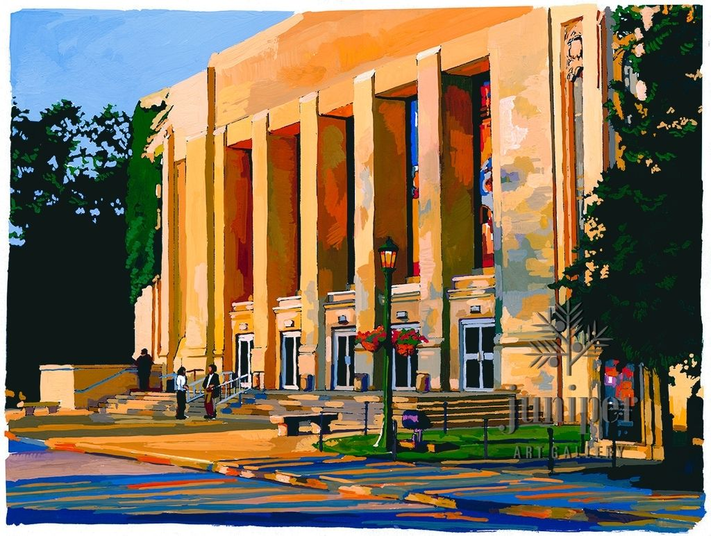 Auditorium at Sunset (I.U. Campus) by Tom Rhea
