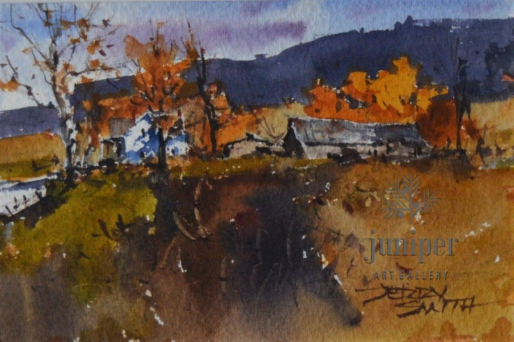 (Unframed) JS19-05 original watercolor by Jerry Smith