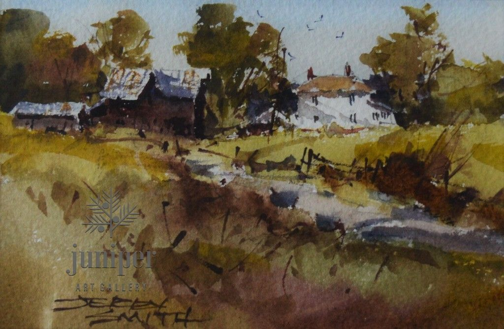 (Unframed) JS19-12 original watercolor by Jerry Smith