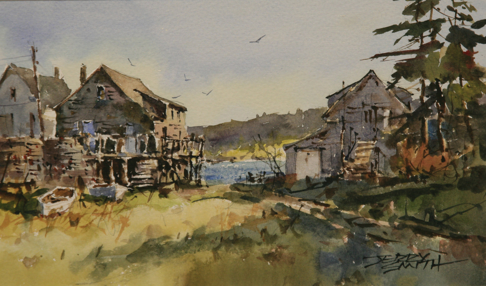 Monhegan Morning, watercolor by Jerry Smith