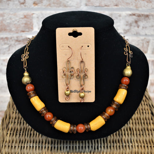 African Necklace & Earring Set