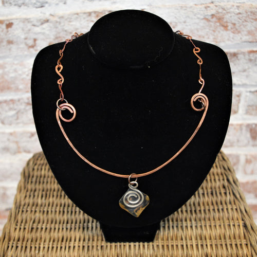 Celtic Inspired Spiral Necklace by Kristine Starr