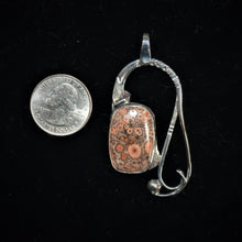 Sterling silver pendant by Tim Terry with coin for size reference