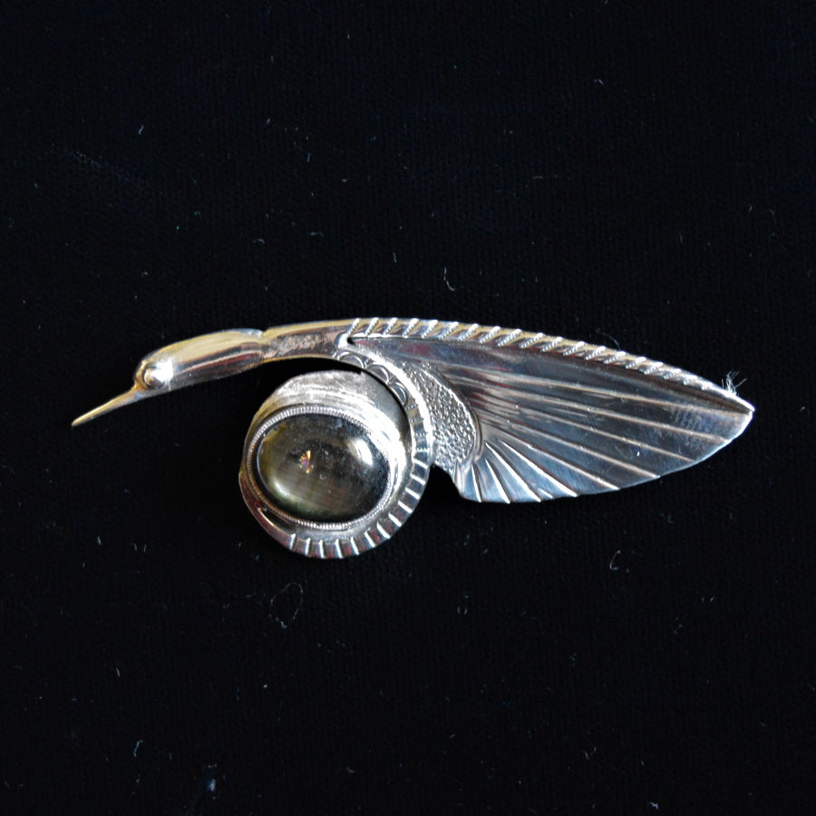 Sterling silver pin by Tim Terry